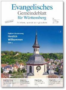 Evangelisches Gemeindeblatt mit Uhr