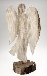 Engel-Skulptur aus Holz